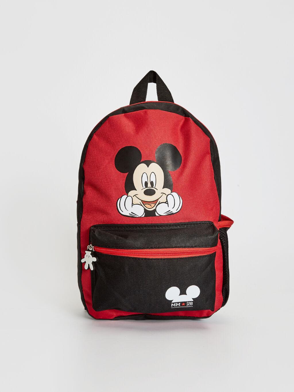 Kırmızı Erkek Çocuk Mickey Mouse Baskılı Sırt Çantası 0W1829Z4 LC Waikiki