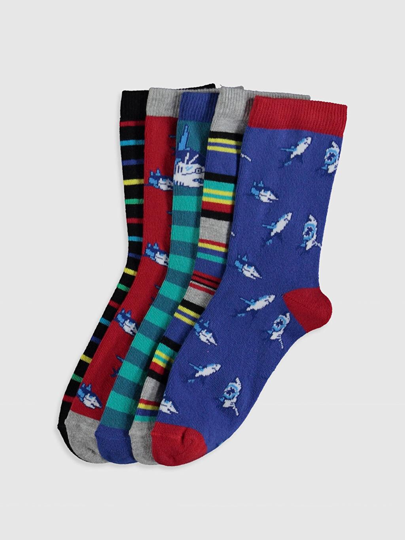 Çok Renkli Erkek Çocuk Soket Çorap 5'li 0W1860Z4 LC Waikiki