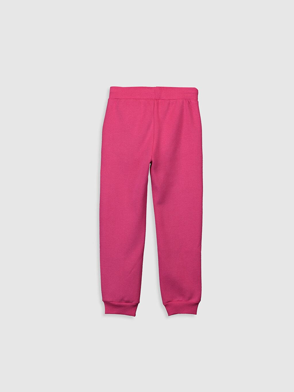 %64 Pamuk %36 Polyester Standart Normal Bel Eşofman Altı Düz Kız Çocuk Jogger Eşofman Altı
