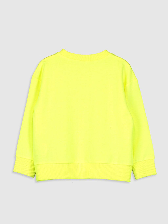 %50 Pamuk %50 Polyester Sweatshirt Baskılı Bisiklet Yaka Uzun Kol Kız Çocuk Yazı Baskılı Sweatshirt