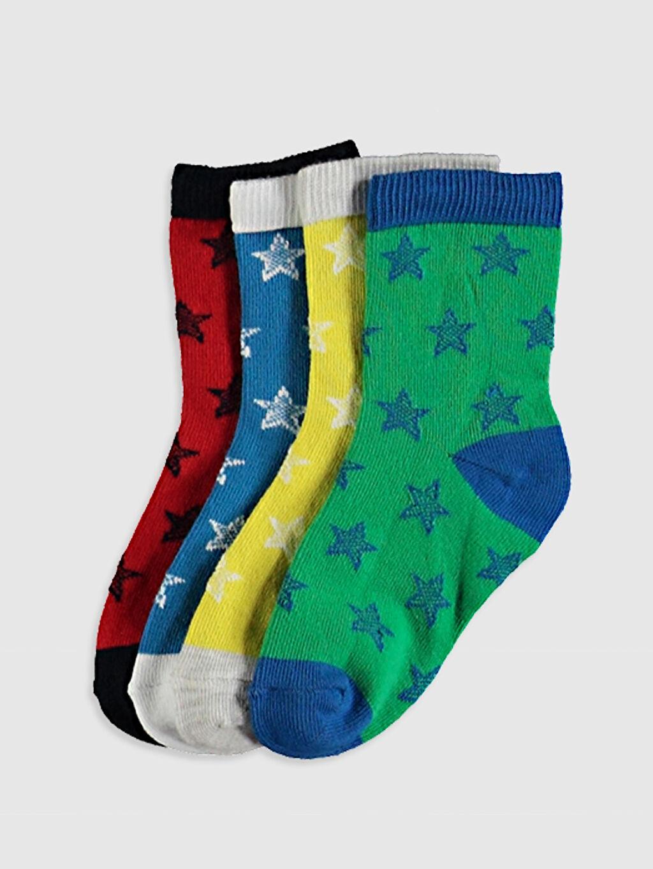 Çok Renkli Erkek Bebek Soket Çorap 4'Lü 0W2260Z1 LC Waikiki