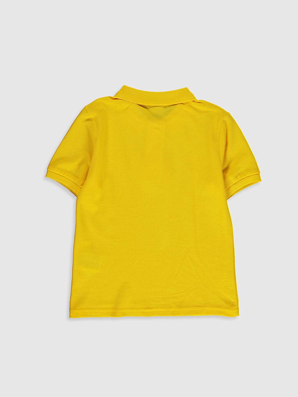 %100 Pamuk Pike Standart Tişört Polo Yaka Kısa Kol Düz Erkek Çocuk Polo Yaka Pamuklu Basic Tişört