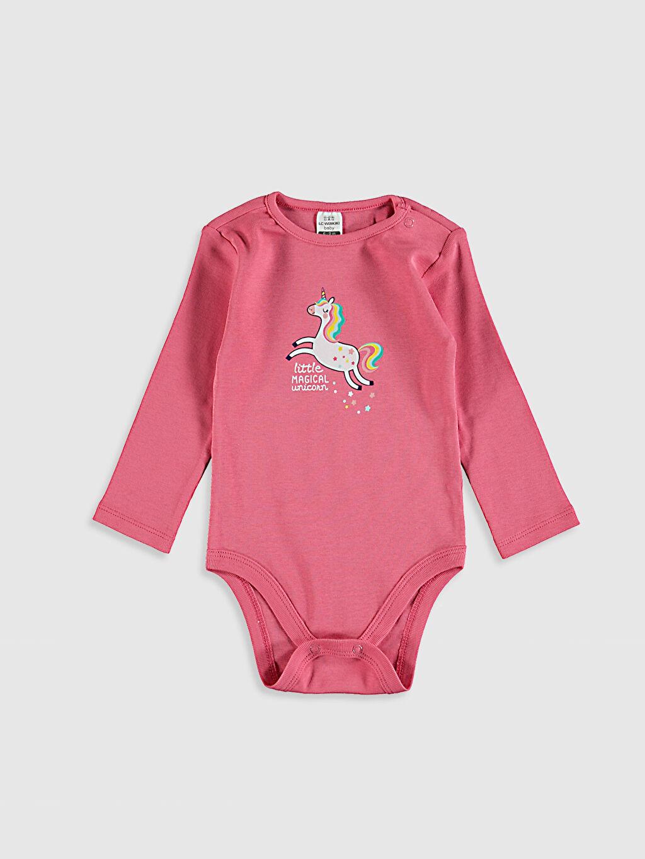 Kız Bebek Kız Bebek Unicorn Baskılı Çıtçıtlı Body 2'li
