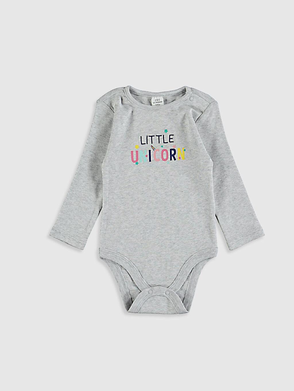 Kız Bebek Unicorn Baskılı Çıtçıtlı Body 2'li