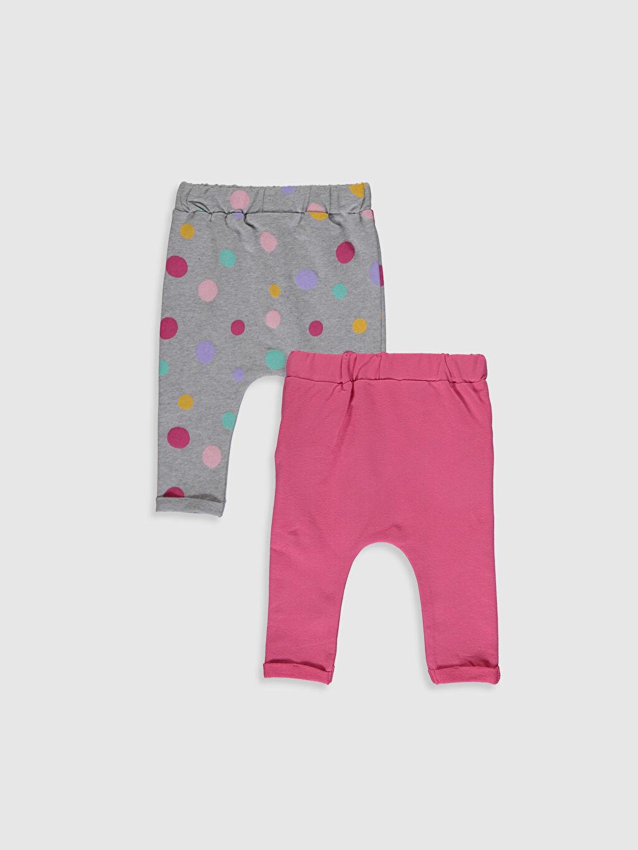 %95 Pamuk %5 Elastan Pantolon Baggy İki İplik Kız Bebek Pamuklu Alt 2'li
