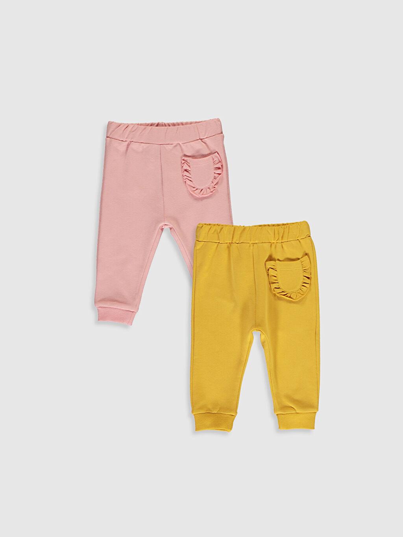 Sarı Kız Bebek Pantolon 2'Li 0W3288Z1 LC Waikiki