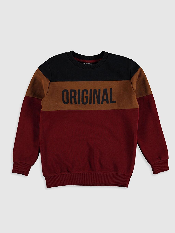 Kırmızı Erkek Çocuk Baskılı Sweatshirt 0W3394Z4 LC Waikiki