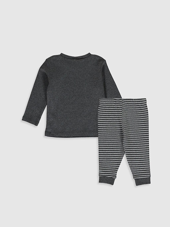 %100 Pamuk %100 Pamuk Baskılı Pijama Takım Bisiklet Yaka Uzun Kol Ribana Erkek Bebek Baskılı Pijama Takım