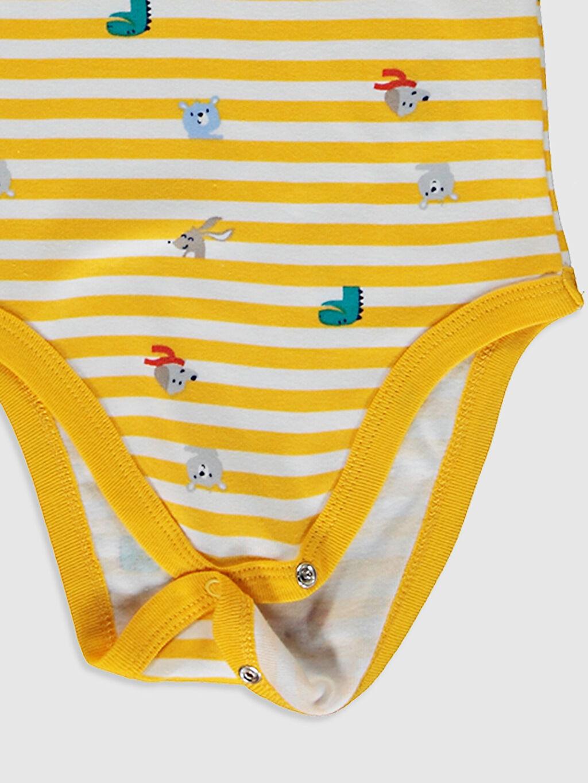 Turuncu Erkek Bebek Baskılı Çıtçıtlı Body 2'Li