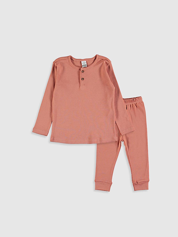 Mercan Kız Bebek Pamuklu Pijama Takımı 0W3822Z1 LC Waikiki