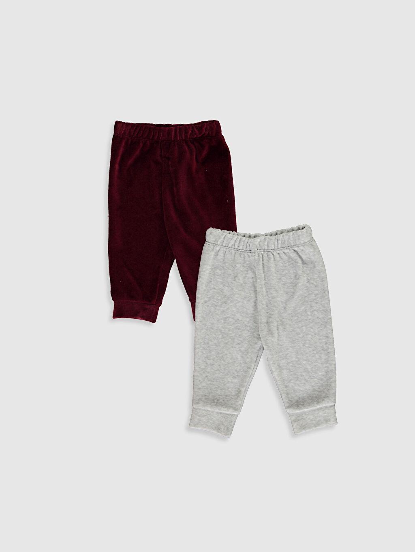 Gri Erkek Bebek Pijama Alt 2'Li 0W3850Z1 LC Waikiki