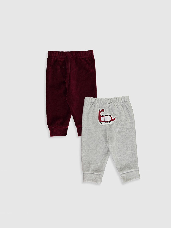 %55 Pamuk %45 Polyester Kadife Pijama Alt Erkek Bebek Pijama Alt 2'Li