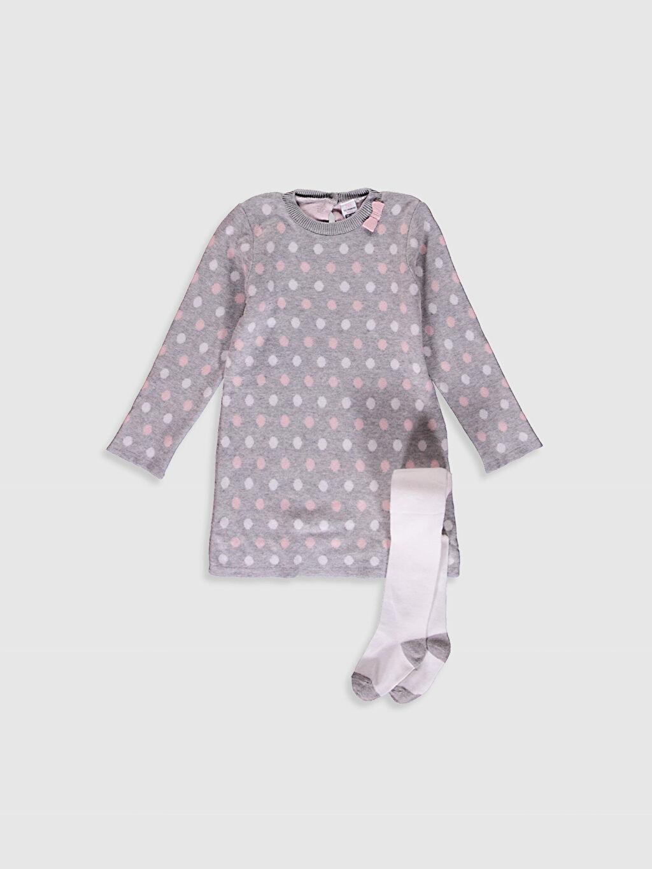 Pembe Kız Bebek Elbise Ve Külotlu Çorap 0W3938Z1 LC Waikiki
