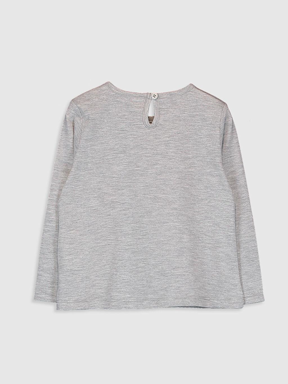 %50 Pamuk %50 Polyester Standart Baskılı Tişört Bisiklet Yaka Günlük Uzun Kol Süprem Kız Bebek Baskılı Tişört