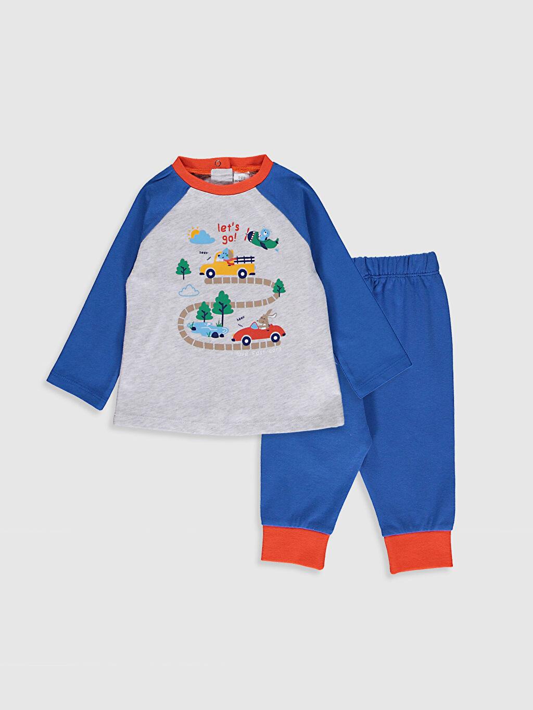 Gri Erkek Bebek Baskılı Pijama Takımı 0W4152Z1 LC Waikiki