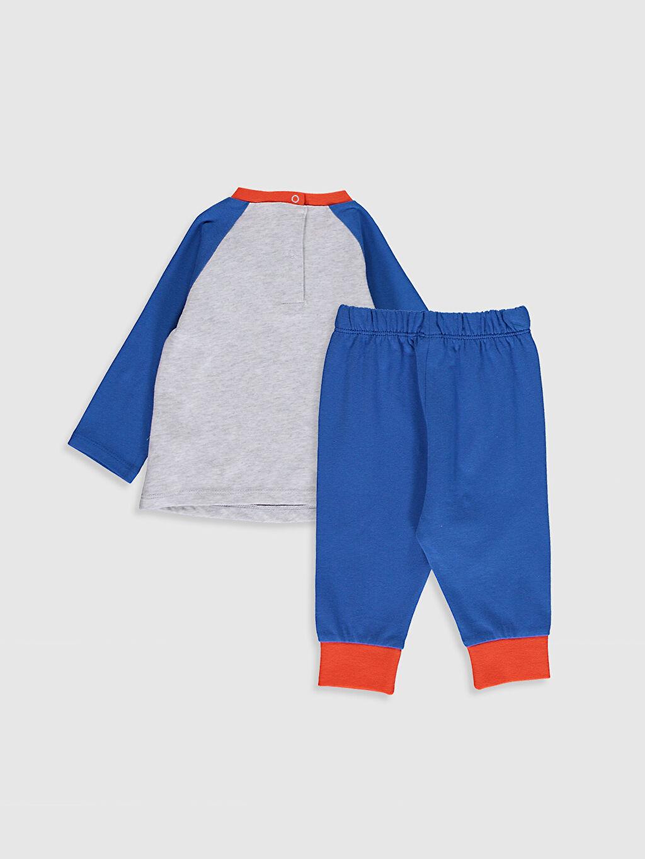 %100 Pamuk %100 Pamuk Baskılı Pijama Takım Bisiklet Yaka Uzun Kol Süprem Erkek Bebek Baskılı Pijama Takımı