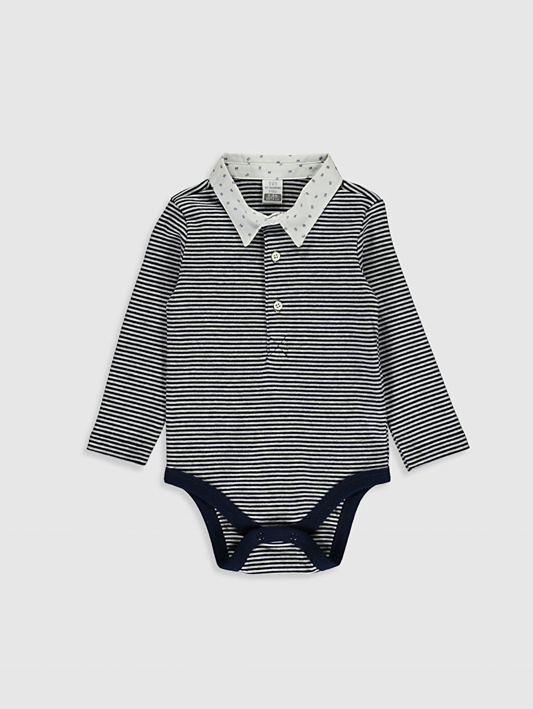 Lacivert Erkek Bebek Çıtçıtlı Body 0W5059Z1 LC Waikiki