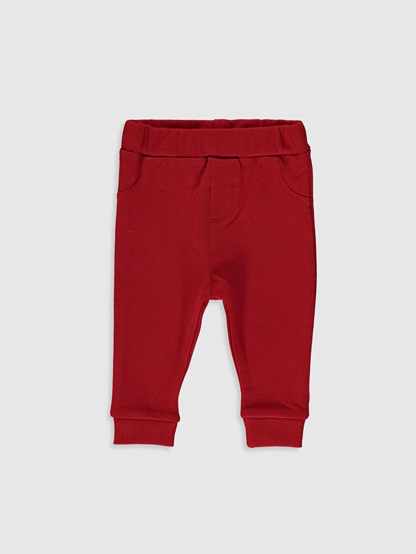 Kırmızı Erkek Bebek Eşofman Alt 2'li