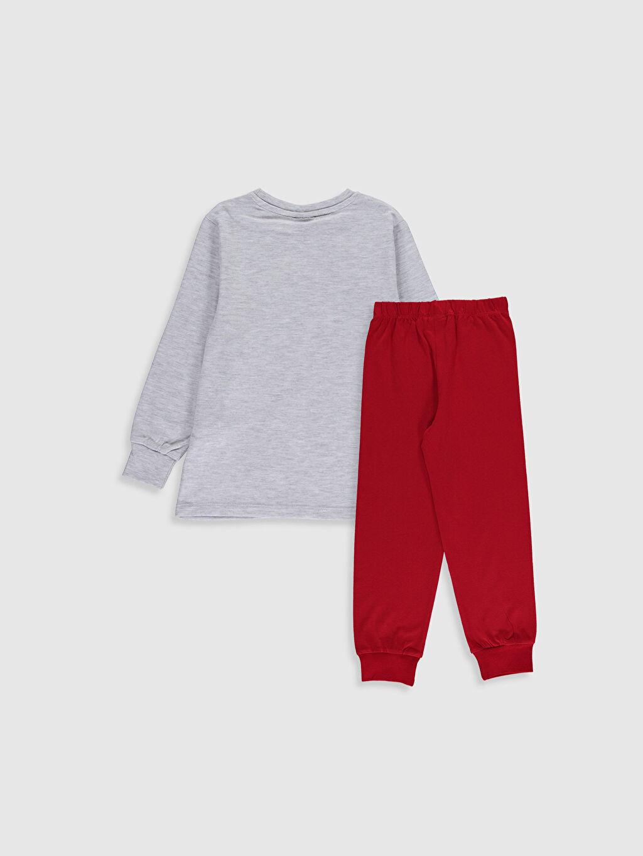 %48 Pamuk %52 Polyester Baskılı Pijama Takım Bisiklet Yaka Günlük Uzun Kol Erkek Çocuk Avengers Baskılı Pijama Takımı