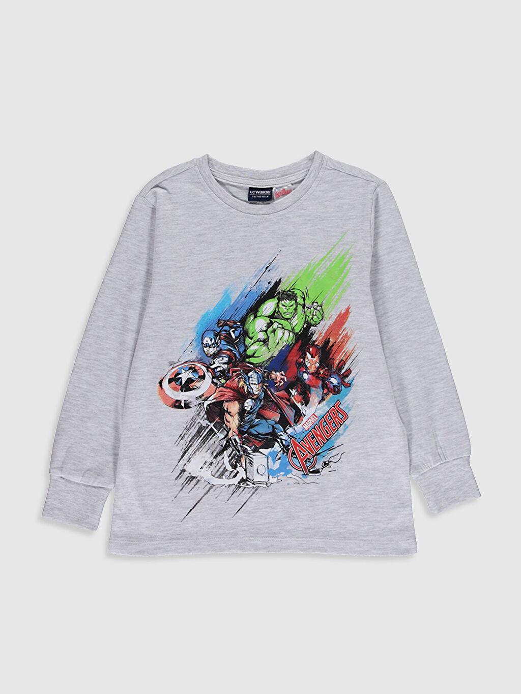 Erkek Çocuk Erkek Çocuk Avengers Baskılı Pijama Takımı