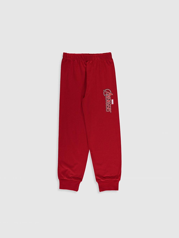 %48 Pamuk %52 Polyester Erkek Çocuk Avengers Baskılı Pijama Takımı