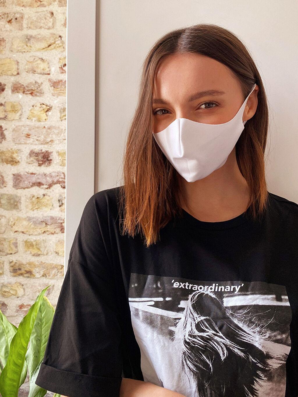 Beyaz Yıkanabilir Yüz Maskesi 0WBJ84Z8 LC Waikiki