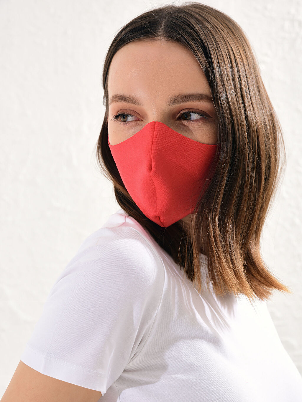%93 Polyester %7 Elastan Yıkanabilir Yüz Maskesi