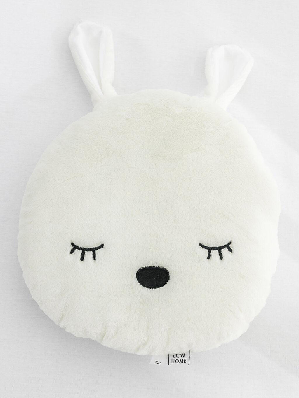%100 Polyester Var Bebek Yastık Tavşan Figürlü Kalın Dolgulu Kırlent