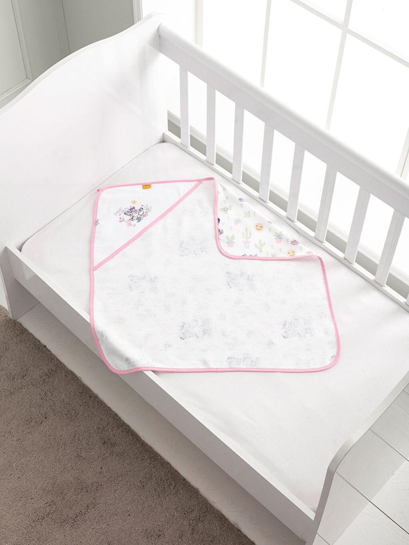 %100 Pamuk Kadife Bebek Havlusu Lisanslı Bebek Banyo Havlusu