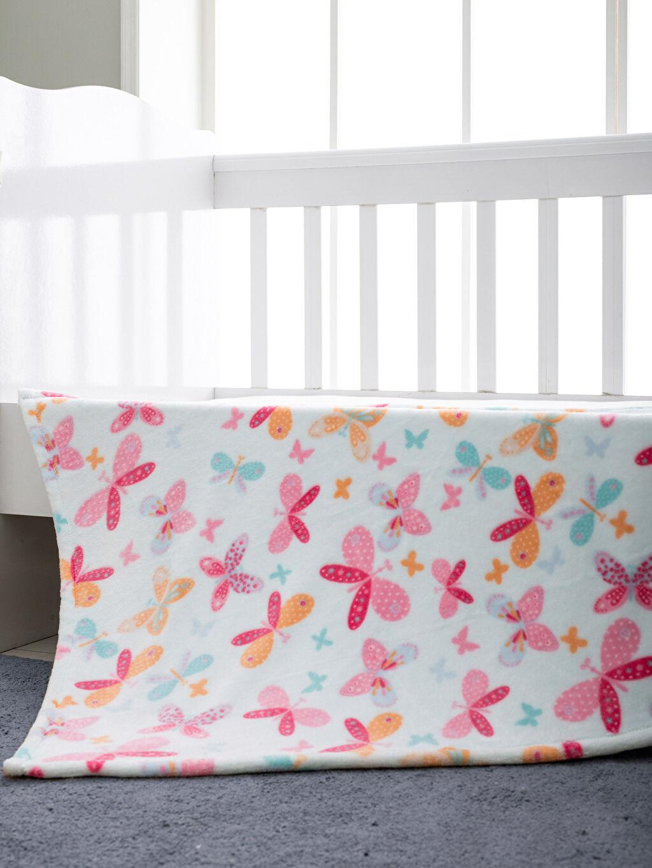 Çok Renkli Kız Bebek Desenli Battaniye 9WI025Z1 LC Waikiki