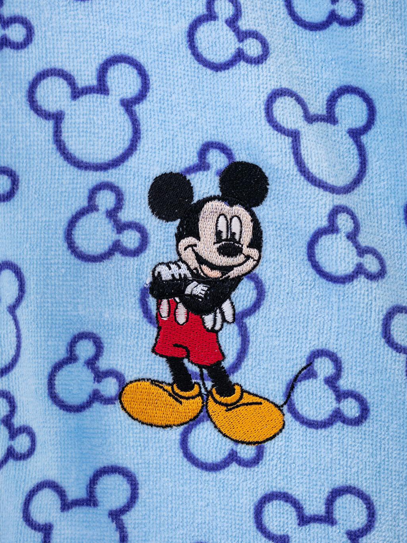 Erkek Çocuk Mickey Mouse Lisanslı Kapüşonlu Bornoz