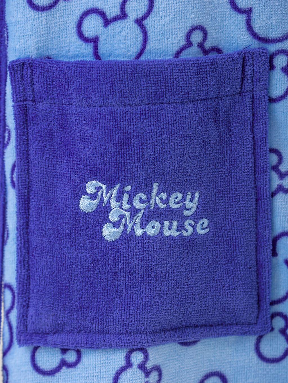 %100 Pamuk Erkek Çocuk Mickey Mouse Lisanslı Kapüşonlu Bornoz
