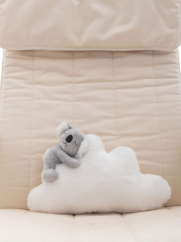%100 Polyester Pelüş Bebek Kırlent Nakışlı Pelüş Koala Kırlent