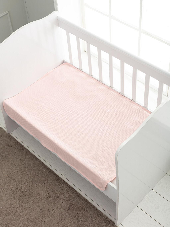 %100 Pamuk Orta Kalınlık Bebek Battaniyesi Düz Bebek Battaniye
