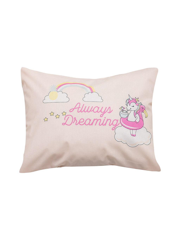 %100 Pamuk Baskılı Bebek Yastık Kılıfı Unicorn Baskılı Bebek Yastık Kılıfı 2'li