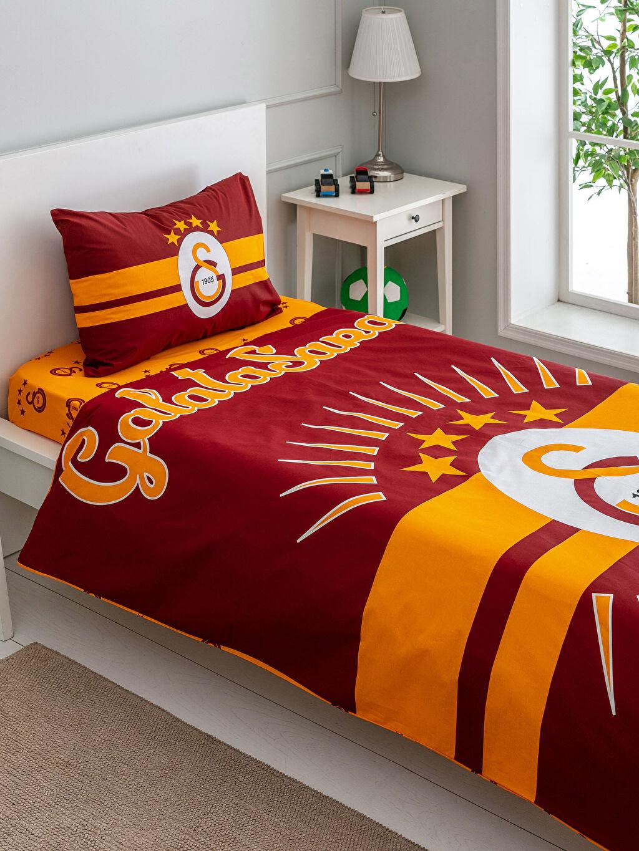 Çok Renkli Galatasaray Lisanslı Çocuk Nevresim Takımı 0SN690Z4 LC Waikiki