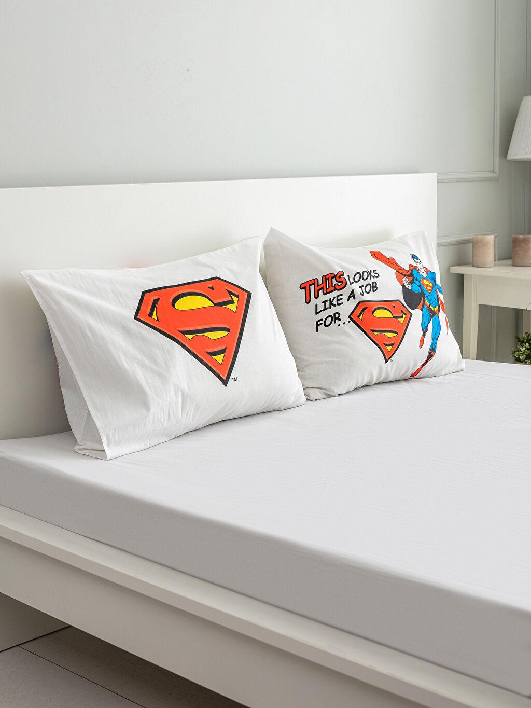 Çok Renkli Süperman Lisanslı Yastık Kılıfı 2'li 0SD118Z4 LC Waikiki