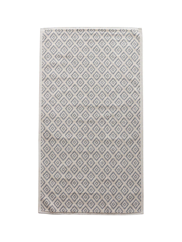 %46 Pamuk %44 Polyester %10 Viskoz Kendinden Desenli Halı Etnik Desenli Halı