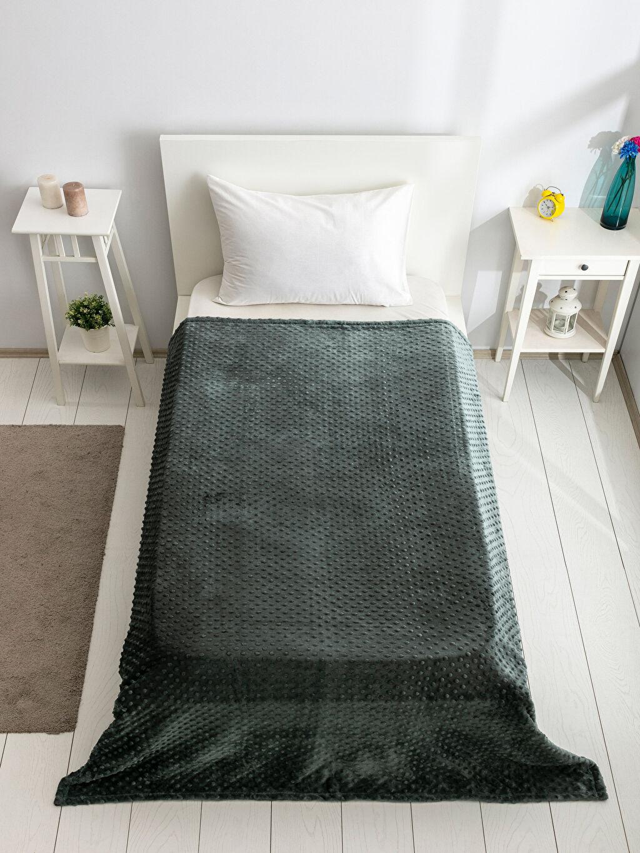 %100 Polyester Tek Kişilik Battaniye Tomurcuk Tek Kişilik Battaniye