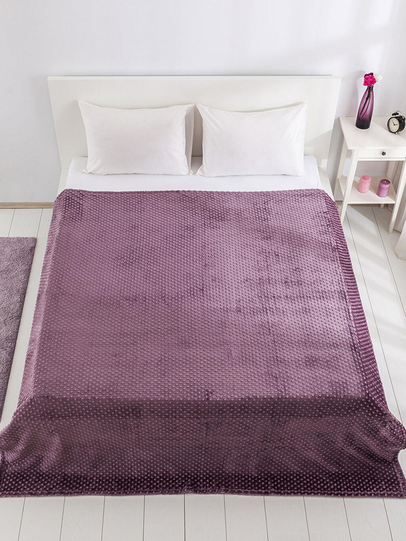%100 Polyester Tomurcuk Çift Kişilik Battaniye Çift Kişilik Well Soft Battaniye