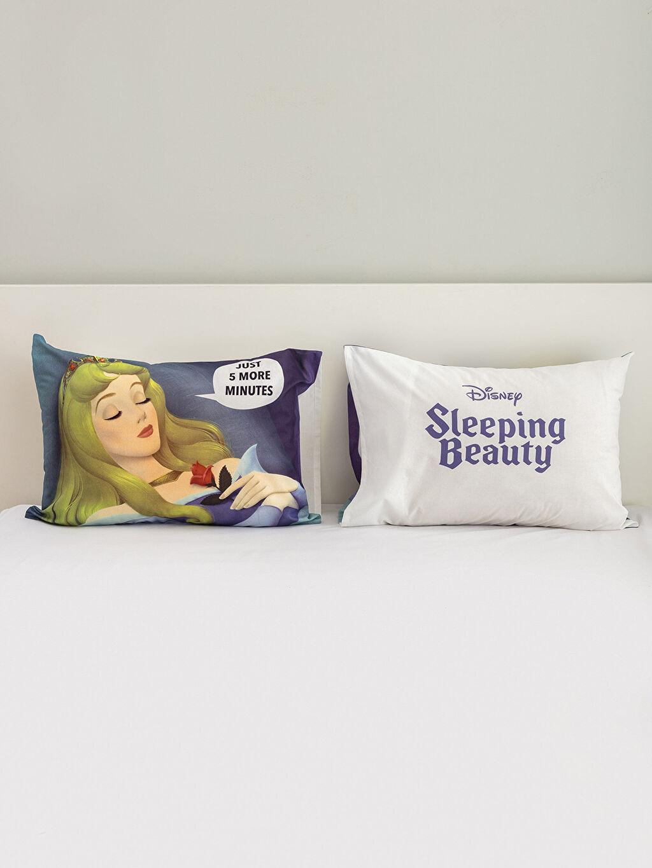 %100 Pamuk Baskılı Yastık Kılıfı Uyuyan Güzel Lisanslı Yastık Kılıfı 2'li