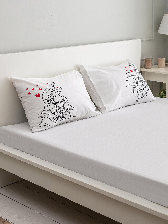 Siyah Bugs Bunny Baskılı Yastık Kılıfı 2'li 0SD123Z8 LC Waikiki