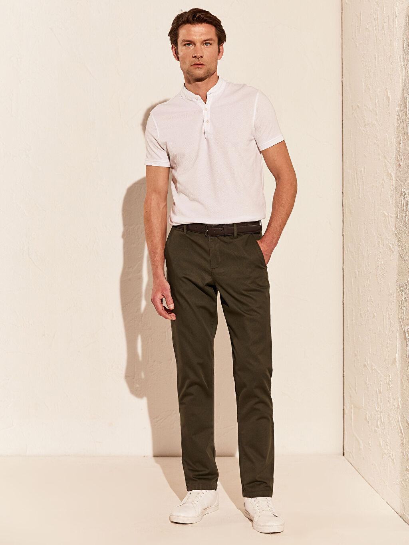 Haki Slim Fit Esnek Pantolon 7K7599Z8 LC Waikiki