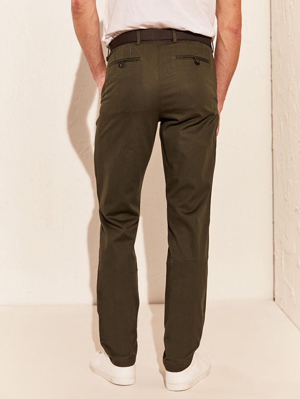 Slim Fit Esnek Pantolon