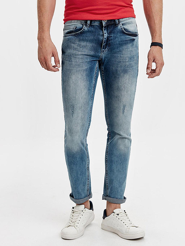 %98 Pamuk %2 Elastan Normal Bel Dar Jean 750 Kuruçeşme Slim Fit Jean Pantolon