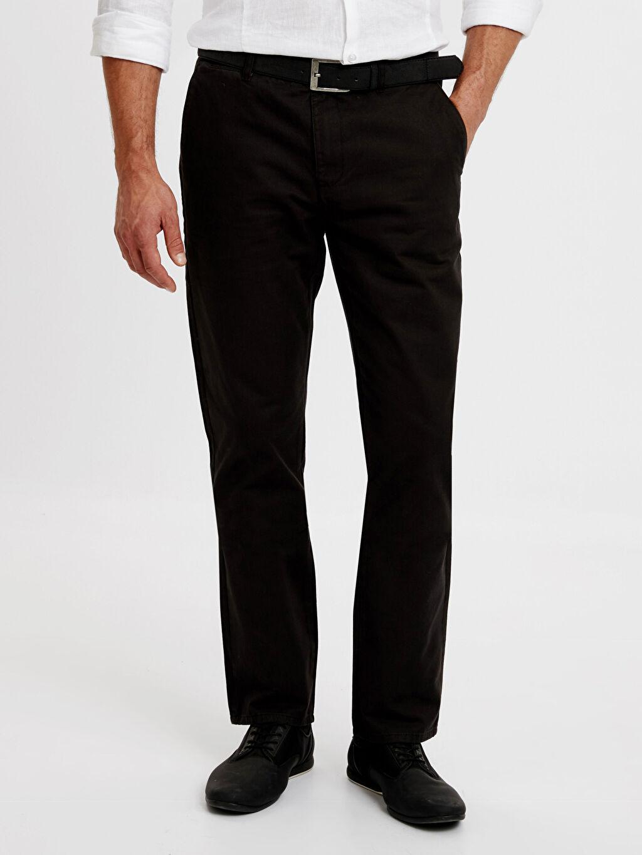 %100 Poliüretan %100 Pamuk Normal Bel Normal Pilesiz Pantolon Standart Kalıp Armürlü Pantolon
