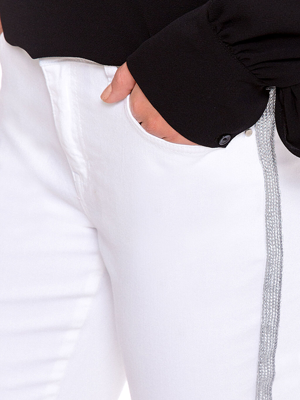 %97 Pamuk %3 Elastan Gabardin Skinny Pantolon
