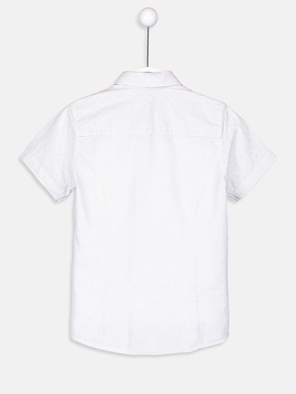 Erkek Çocuk Kısa Kollu Armürlü Gömlek ve Papyon