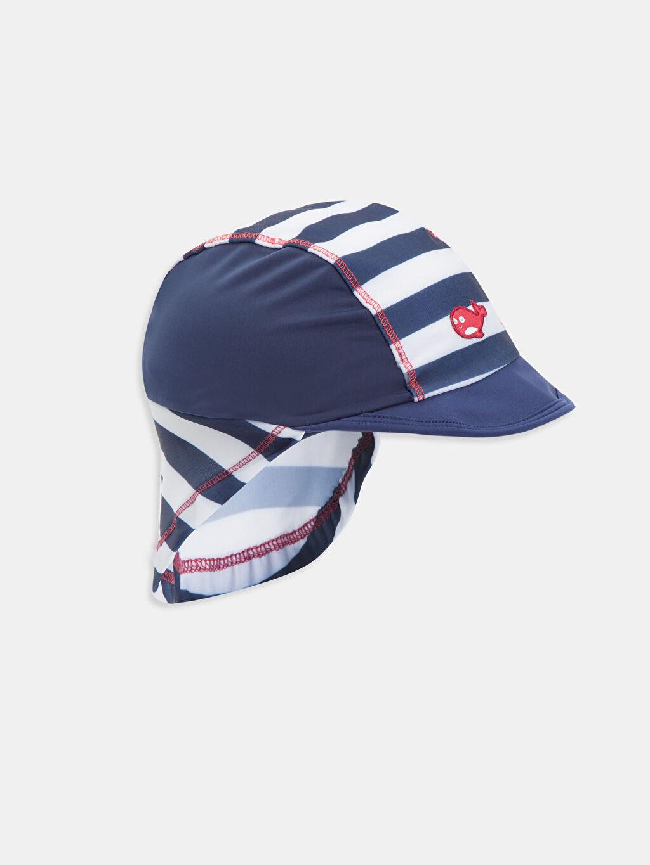 Lacivert Erkek Bebek Desenli Plaj Şapkası 8SJ330Z1 LC Waikiki