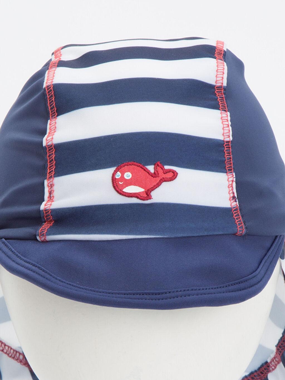 Erkek Bebek Erkek Bebek Desenli Plaj Şapkası